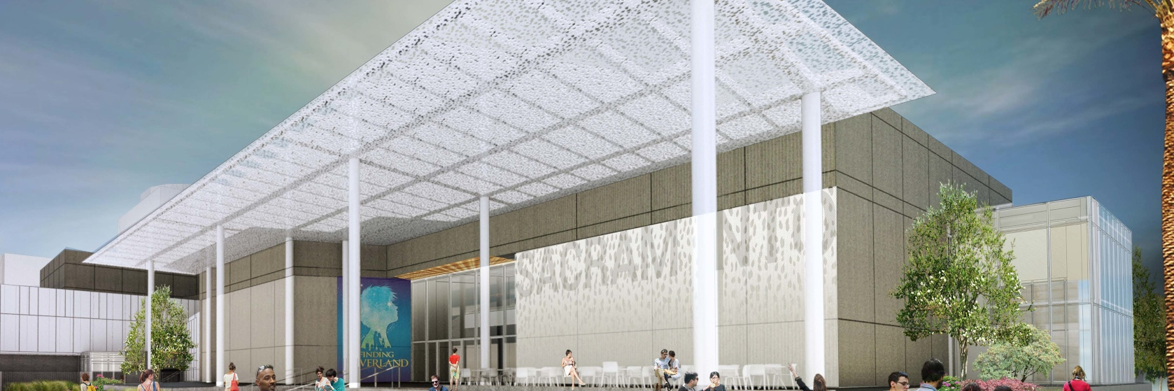 SAFE Credit Union Convention Center night rendering