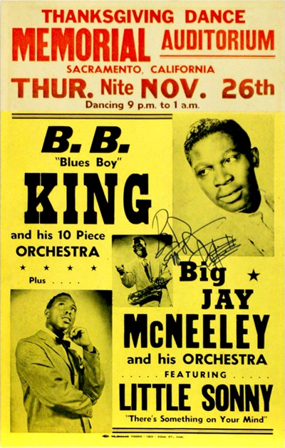1959 Memorial Auditorium Thanksgiving Dance, B.B. King, Big Jay McNeeley and his Orchestra, Featuring Litte Sonny