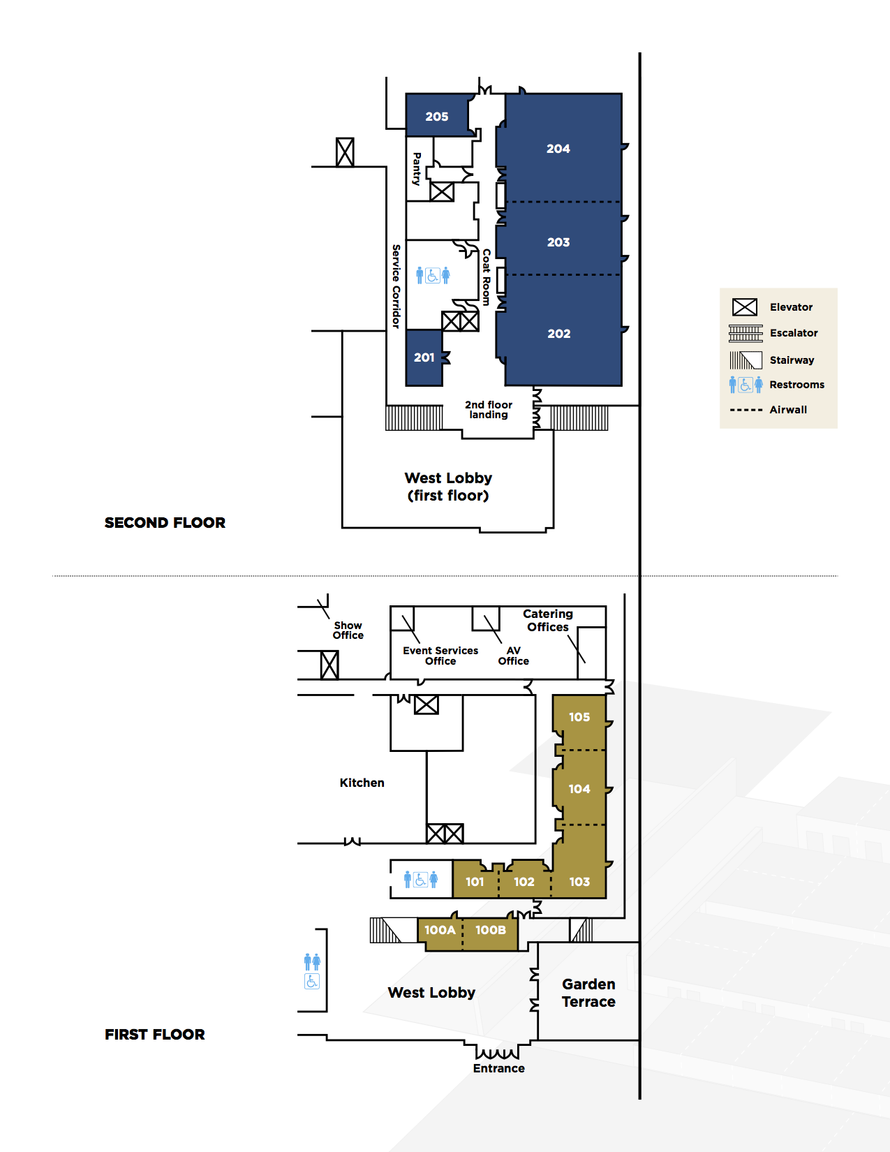 West Lobby floor plan